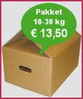Verzendkosten pakket via TNT Post 10-30 kg: 12,50 euro