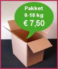 Verzendkosten pakket via TNT Post 0-10 kg: 7 euro